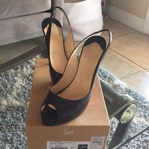 Louboutin Slingback Platform Heels
